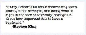 Stephen King Has Spoken!