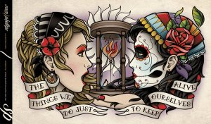 day_of_the_dead_gypsy_crest_piece_tattoo_by_sam_phillips_nz-d51u4ll