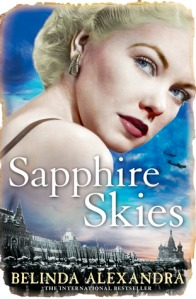 Image Description: book conver of Sapphire Skies by  Belinda Alexandra
