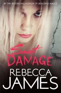 Image Description: book cover of Sweet Damage by Rebecca James