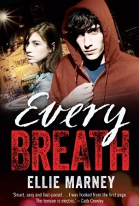 Image Description: book cover of Every Breath by Ellie Marney