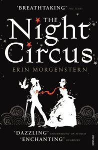 Image Description: book cover of The Night Circus by Erin Morgenstern