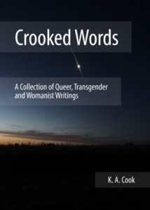 Image Description: book cover of Crooked Words by K. A. Cook