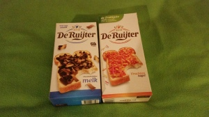Image Description: two boxes of confectionary from Holland that is put on toast, you will need to ask Kim for more details, links will be provided.