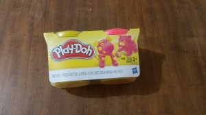 Image Description: a two pack of pink and yellow play-doh