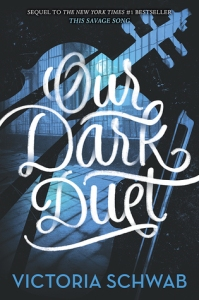 Image Description: book cover of Our Dark Duet by Victoria Schwab