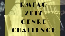 "Image Description: a button image displaying text that reads ""RMFAO 2017 Genre Challenge"""